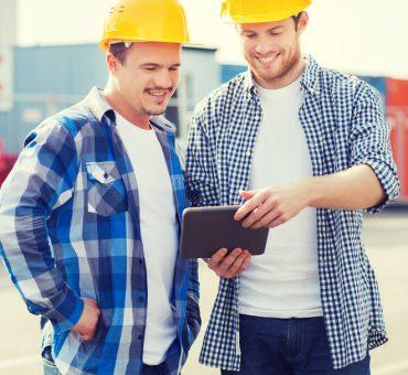 builders in yellow hats